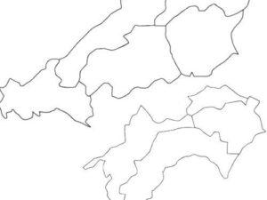 市名から所在都道府県を答える都道府県クイズ (中国・四国編)